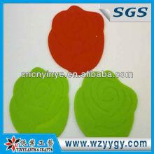 Rosa medida popular en forma de estera de goma suave del PVC blando