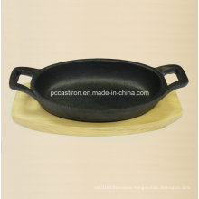 Preseasoned Cast Iron Mini Skillet Size 15.5X9.7X3cm