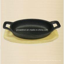 Предсезонная чугунная мини-сковорода Размер 15.5X9.7X3cm