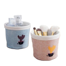 Wholesale simple canvas pot sitting room tabletop pot coats creative dry flower decorative basket storage basket bag