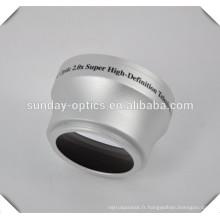 Téléobjectif 2.0 X, 37mm, UV46, Fabriqué en Chine