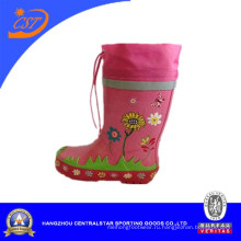 Девочек тигр печати розовый кружевной до дождя сапоги
