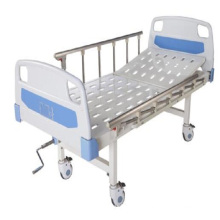 High quality thick tube medical bed manual two crank patient medical hospital bed