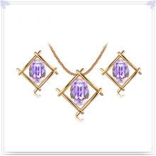 Joyería de la aleación Joyería cristalina de la joyería de la manera fijada (AJS201)