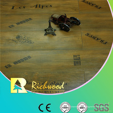 Commrcial 8.3mm Pearl Walnut V-Grooved Waxed Edge laminado Floor