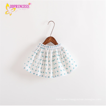 Manufacturering Baby Girl Elastic Waist Short Skirts With Lined Dress