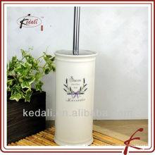 Белый глазурь оптовый керамический фарфоровый держатель щетки для унитаза