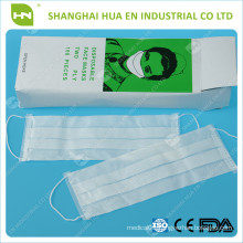 2ply paper mask packed by box made in China