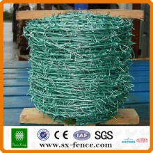 Green PVC coated Barbed Wire
