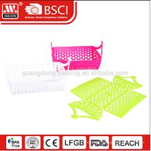 Unique DIY food grade foldable plastic basket collapsible insulated picnic basket