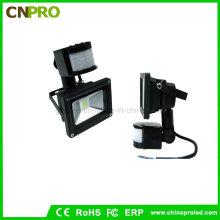 Venta directa de fábrica 10W PIR Sensor LED Floodlight