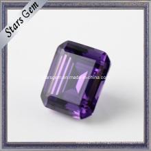 Amethyst Cor esmeralda cortar preciosas gemas de zircônia cúbica