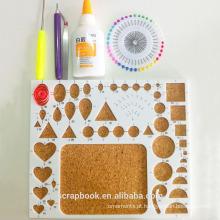 ABS + cortiça board para quilling artesanato kits de design