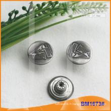Bouton en métal, boutons Jean personnalisés BM1673