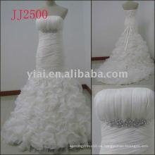 JJ2500 neue Ankunft Kristall Meerjungfrau Organza Hochzeitskleider 2011