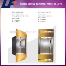 Коммерческие стеклянные лифты Пассажирский лифт / полный вид и открытое стекло Панорамный лифт