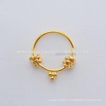 Joyería hecha a mano del cuerpo del anillo de la nariz del septo del septo, surtidores Septum diseñador del anillo de la nariz de plata