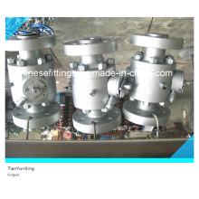Carbon Steel Reduced Bore Port Forged Flanged Ball A105 Valve