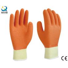 Рабочие перчатки с латексной хлопчатобумажной пряжей