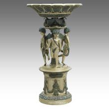 Gran Estatua Elfin Fuente Decoración Bronce Escultura Tpls-091