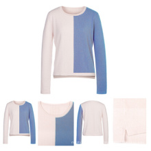 Color Combines Women Knitted Cashmere Sweater