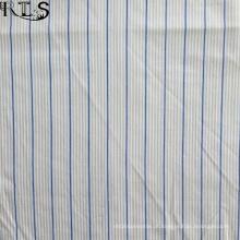 Poplin de algodão tecida de fios tingidos tecidos para vestuário camisas/vestido Rls40-2po