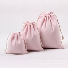 Wholesale customized design fashion Print Organic small colorful pouch cotton drawstring bag