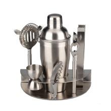 Sete peças de aço inoxidável Cocktail Shaker Set