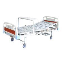 Cama de hospital de metal plegable de manivela médica