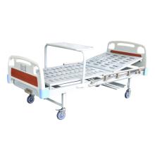 Cama hospitalar dobrável de metal de manivela simples