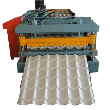 CE ISO Glazed steel tile stamping machine