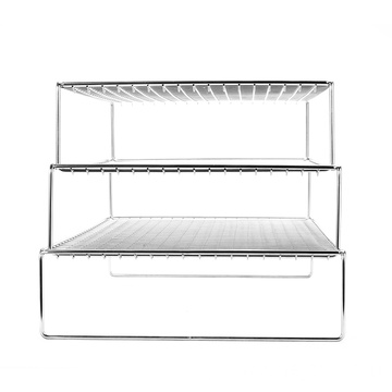 High quality and fashionable 3-layer metal stainless steel bread cake baking vegetable draining baking rack