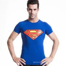 Camiseta de manga corta ajustada para hombre Fitness Running Running Ropa de yoga
