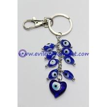 Evil Eye grapes hanging heart-shaped key chain factory wholesale