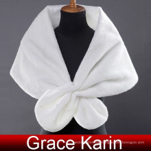 Grace Karin Ladies Faux Fur Elegant Winter White Bridal Wedding Shawls And Wedding Wraps CL2614