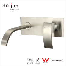 Haijun 2017 Itens na moda Single Handle Wall Mounted Bathroom Basin Faucet