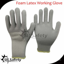 SRSAFETY 10G acrylic latex coated safety working gloves/winter gloves/glove latex cotton