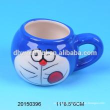 Прекрасная керамическая чашка для пудинга с кошкой