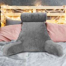 Inicio Reposo en cama con brazos Leer almohada