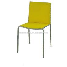 Chaise de restaurant en métal, chaise de salle à manger en acier