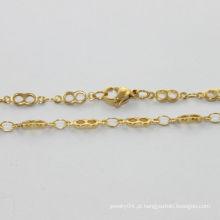 Colar de atacado barato, colar de aço inoxidável polonês alta com carta 8, colar de mulheres