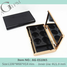 Elegant Rectangular Eye Shadow Case With Mirror AG-ES1065, AGPM Cosmetic Packaging , Custom colors/Logo