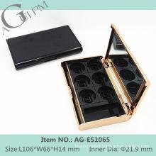 Elegant Rectangular Eye Shadow Case With Mirror AG-ES1065, AGPM Cosmetic Packaging , Custom colors/Logo