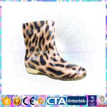 leopard print half rain boots for girl