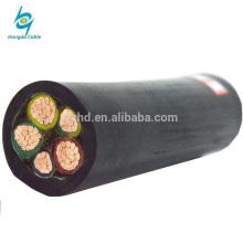 Cabo de alimentação elétrica de cobre blindado de cobre flexível Cabo de alimentação de cobre blindado de silicone flexível