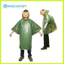 Дешевые поддавки одноразовые PE дождь пончо
