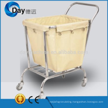 HM-48 stainless steel frame laundry carts on wheels with Oxford bag