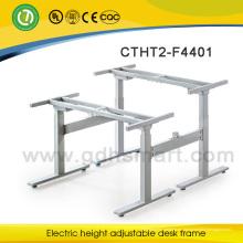 escritorio de oficina de teca de los muebles de oficina de la recepción marco de escritorio ejecutivo ajustable de la altura para relajarse o trabajar