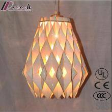 Hot Ventas de madera ahuecan la iluminación de la lámpara de Ceing con el restaurante