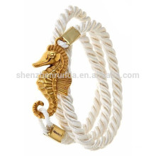 Wholesale Fashion Custom Anchor Nautical Bracelet Jewelry Luck Pure White Rope Bracelets for Women